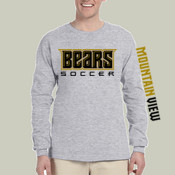 Bears-LS -  4930 Fruit of the Loom Adult 5oz. 100% Heavy Cotton HD™ Long-Sleeve T-Shirt